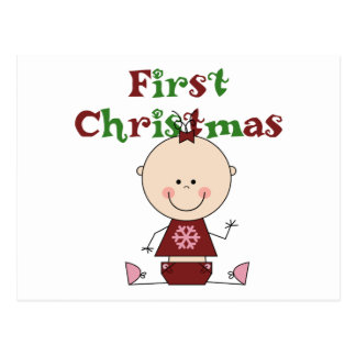 Carte Postale Premiers T-shirts et cadeaux de Noël de bébé