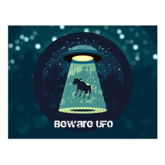 Carte Postale Prenez garde de l'UFO