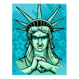 """Carte Postale """"Préparez pour poinçonner quelque chose"""" liberté"""