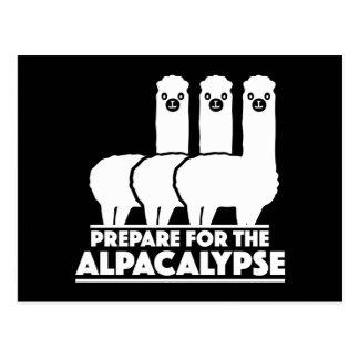 Carte Postale Préparez-vous à l'Alpacalypse