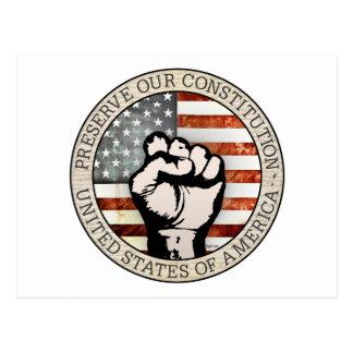 Carte Postale Préservez notre constitution