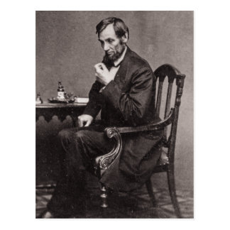 CARTE POSTALE PRÉSIDENT ABRAHAM LINCOLN 1862 STEREOVIEW