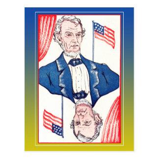 Carte Postale Président des drapeaux - Abraham Lincoln
