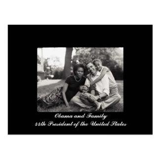 Carte Postale Président d'Obama et de famille quarante-quatrième