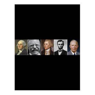 Carte Postale Présidents des USA