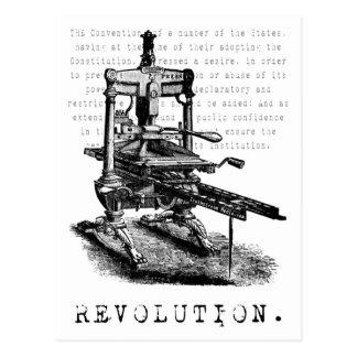 Carte Postale Presse typographique = RÉVOLUTION !