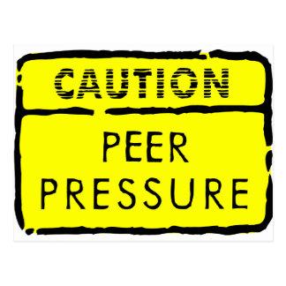Carte Postale Pression de pair de précaution
