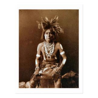 Carte Postale Prêtre CA 1900 de serpent de Hopi
