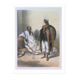 Carte Postale Prêtre et guerrier abyssiniens, illustration de '