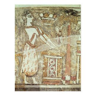 Carte Postale Prêtresse à un autel, détail d'a