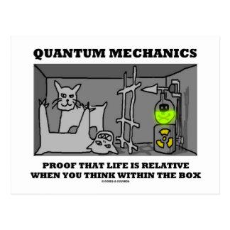 Carte Postale Preuve de la mécanique quantique Que la vie est