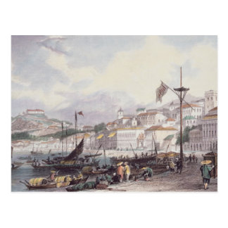 Carte Postale Pria grand, Macao, c.1850 (litho de couleur)