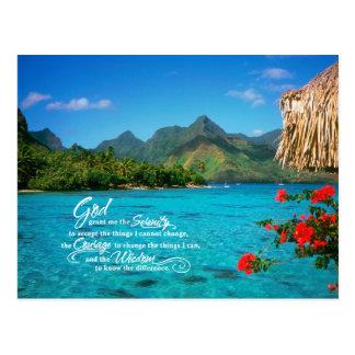 Carte Postale Prière et Bora Bora de sérénité