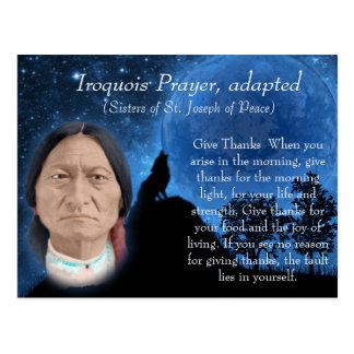 Carte Postale Prière Iroquois