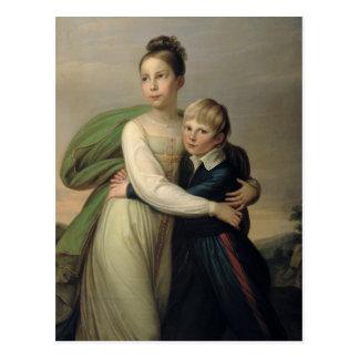 Carte Postale Prince Albrecht et princesse Louise, c.1817