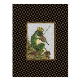 Carte Postale Prince charme vintage de grenouille