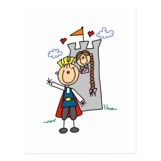 Carte Postale Prince et fille en T-shirts et cadeaux de tour