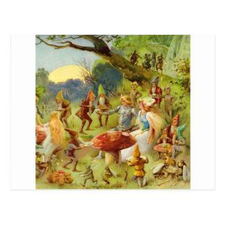 Carte Postale Prince féerique et Thumbelina dans la forêt
