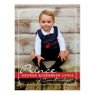 Carte Postale Prince George et prince William