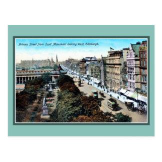 Carte Postale Princes Street Edimbourg du cru Ca 1900
