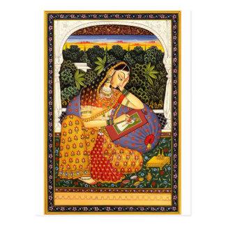 Carte Postale Princesse antique de Mughal d'Indien