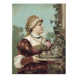 Carte Postale Princesse Chocolate Trade Card