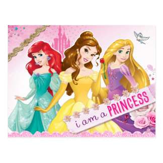 Carte Postale Princesse de Disney   Ariel, belle et Rapunzel