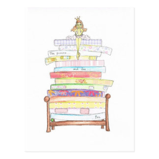 Carte Postale princesse et le pois