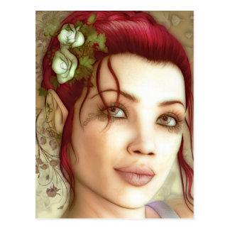 Carte Postale Princesse Fantasy Art d'Elven