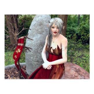 Carte Postale Princesse Fantasy Postcard de région boisée