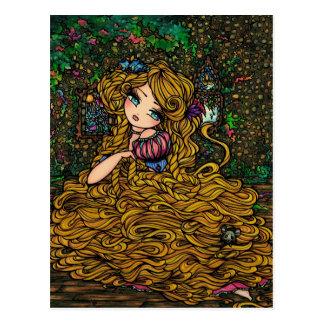 Carte Postale Princesse Original Art Postcard de livre de contes
