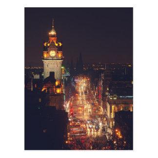 Carte Postale Princesse Street à Edimbourg