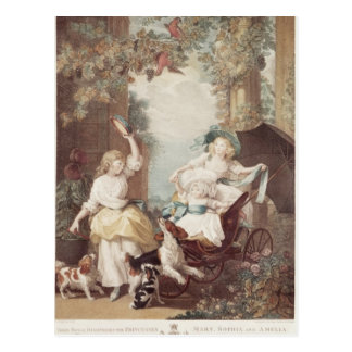 Carte Postale Princesses Mary, Sophia et Amelia