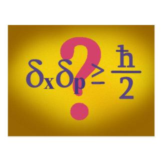 Carte Postale Principe d'incertitude de Heisenberg