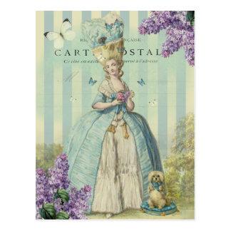 Carte Postale Printemps d'Au de Lilas, avec des lilas