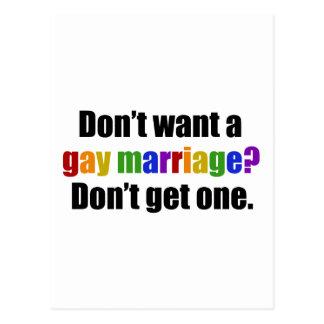 Carte Postale Pro mariage homosexuel
