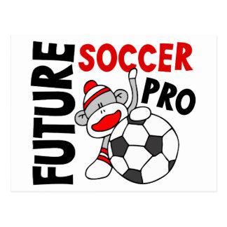 Carte Postale Pro singe de chaussette du futur football