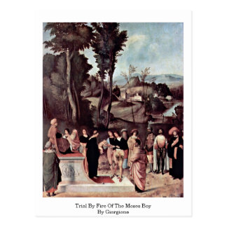 Carte Postale Procès par le feu du garçon de Moïse par Giorgione