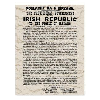 Carte Postale Proclamation en hausse de Pâques de la République