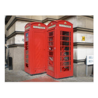 Carte Postale Produits de cabine de téléphone de Londres