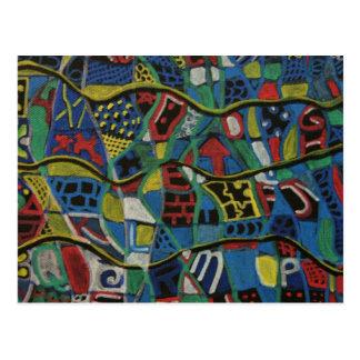 Carte Postale Produits piqués de cadeau d'abstraction