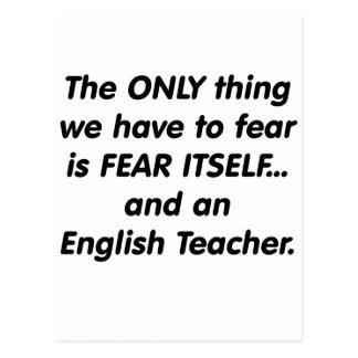 Carte Postale Professeur d'Anglais de crainte