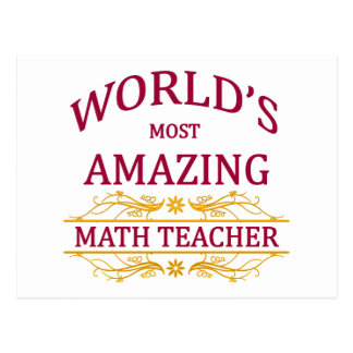 Carte Postale Professeur de maths