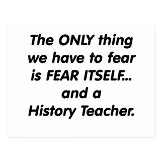Carte Postale Professeur d'histoire de crainte