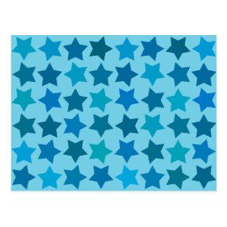 Carte Postale Profil sous convention astérisque bleu