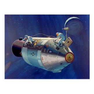 Carte Postale Programme Apollo - concept d'artiste de mission de