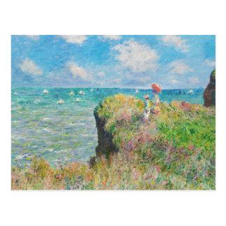 Carte Postale Promenade de falaise de Monet chez Pourville