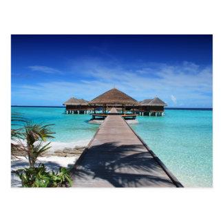 Carte Postale Promenade, dock aux cabanes, plage, océan,