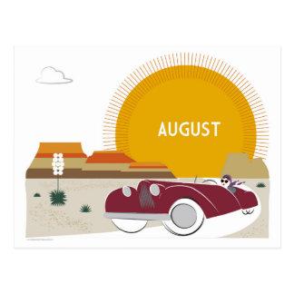 Carte Postale Promenade en voiture de désert d'art déco d'août
