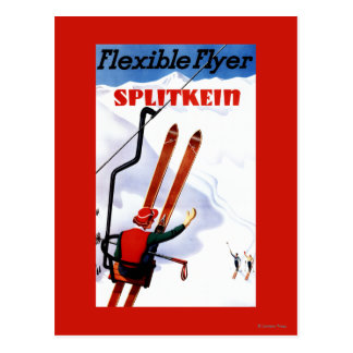 Carte Postale Promo en bois de skis de Splitkein d'insecte